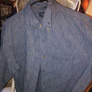 Slim Textured chambray shirt